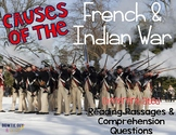 Causes of the French and Indian War: Reading Passages for SS Integration