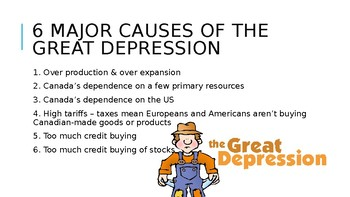 Causes of the Great Depression (Canada)