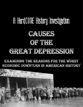 Causes of the Great Depression: Common Core Research History Lesson