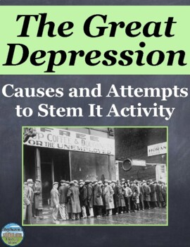 Causes of the Great Depression Group Activity and New Deal Solutions
