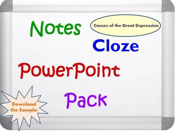 Causes of the Great Depression Pack (PPT, DOC, PDF)