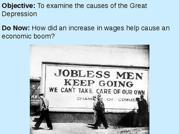 Causes of the Great Depression PowerPoint Presentation