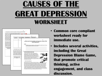 Causes of the Great Depression - US History - Common Core