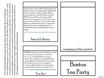 American Revolution: Causes of the Revolution Interactive Notebook