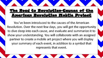 Causes of the Revolution art project