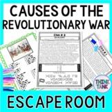 Revolutionary War Causes ESCAPE ROOM Activity: American Re