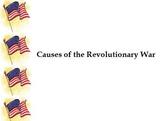 Causes of the Revolutionary War Flipchart