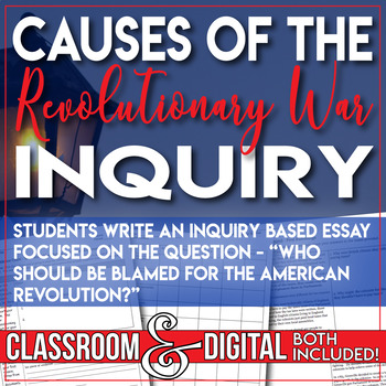 Causes Of The English Civil War Essay Causes Of The Revolutionary War Inquiry Essay Events Leading To The  Revolution Process Essay Thesis also Essays About Business Causes Of The Revolutionary War Inquiry Essay Events Leading To The  Thesis Statement Examples For Persuasive Essays