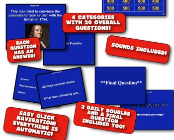 Revolutionary War Causes Review Game! Students Review the Revolution!