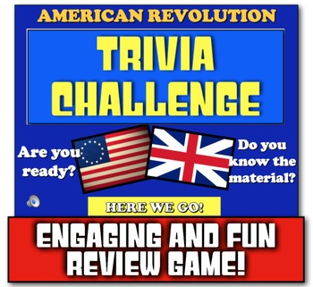 Revolutionary War Causes Review Game! Students Review the