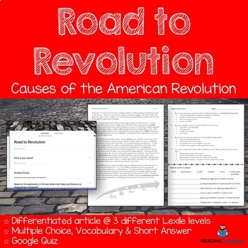 Causes of the Revolutionary War Passages