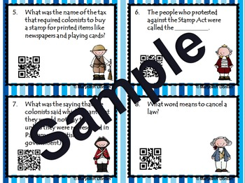 Causes of the Revolutionary War Task Cards