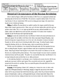 Causes of the Russian Revolution-Differentiated Reading