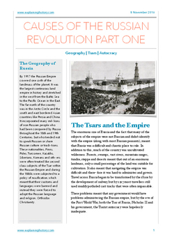 Causes of the Russian Revolution Part One