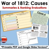 Causes of the War of 1812: Analysis & Evaluation (Discuss,