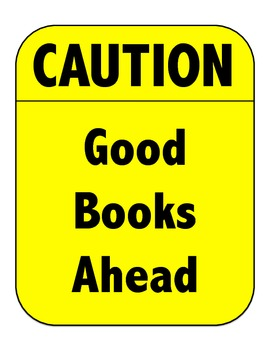 Caution Good Books Ahead Reading Bulletin Board/Door Decorating Set