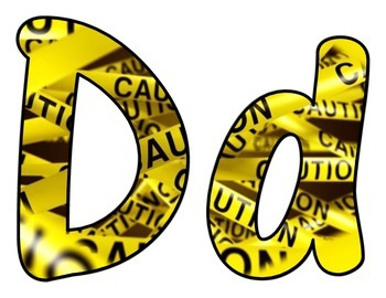 Caution Tape BB letters