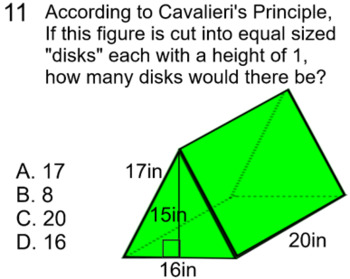 Cavalieri's Principle and Volume Intro + 2 Assignments for SMART Notebook