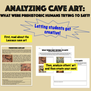 Cave Art Activity Text Plus Worksheet By Teachingancient Tpt