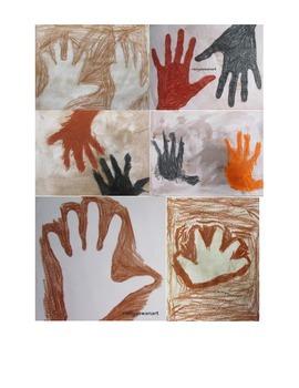 Cave Art: Positive and Negative Hand Prints!! Art Lesson!!