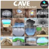 Cave Backgrounds Clip Art Set {Educlips Clipart}