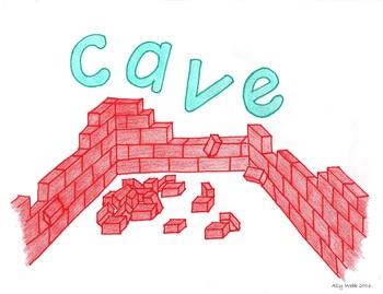 Cave In Cartoon--Printable Montessori Homonym Cards