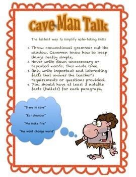 Cave Man Talk poster 2