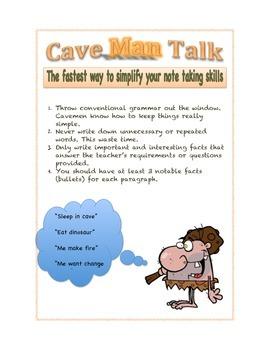 Cave Man Talk poster