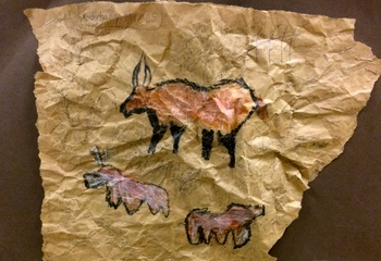 Third Grade: Cave Painting