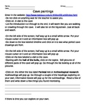 Cave painting web quest worksheet