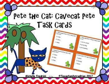 Pete the Cat: Cavecat Pete Task Cards