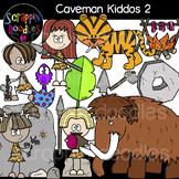 Caveman Kiddos 2 Clipart {Scrappin Doodles Clipart}