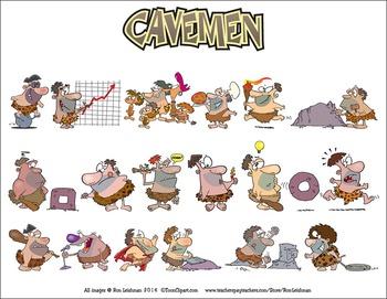 Cavemen Cartoon Clipart