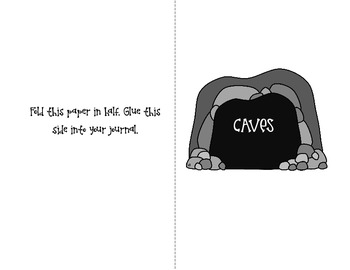 Caves Foldable Webquest and Activity for Interactive Notebooks