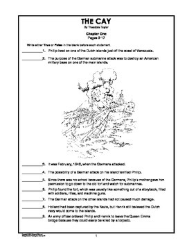 The Cay Chapter-by-Chapter Objective Tests