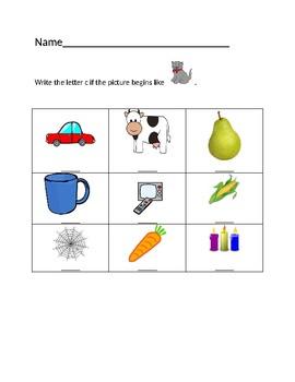 Cc Cat Homework Sheet #1