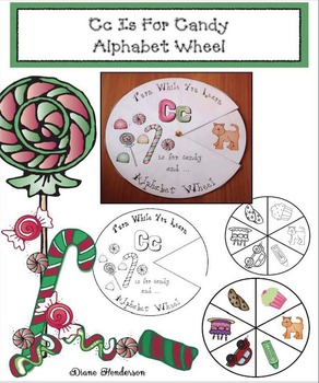 Cc Is For Candy Alphabet Wheel