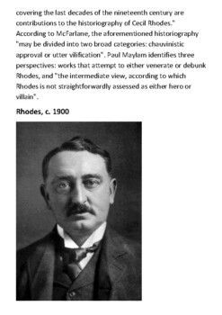 Cecil John Rhodes Handout -