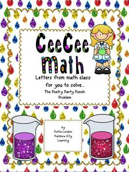 CeeCee Math: Letters From Math Class - Poetry Party Punch Problem