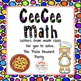 Close Reading Math Story Problem - The Pizza Reward Party