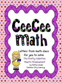 CeeCee Math: Letters From Math Class - The Pretty Valentine Hearts Predicament