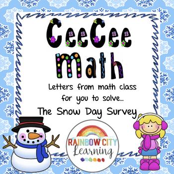 Close Reading Math Story Problem - The Snow Day Survey