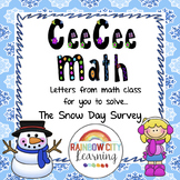 Close Reading Math Story Problem - The Snow Day Survey