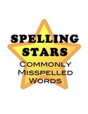 Ceiling Spelling Stars: Homophones, Misspelled Words for Middle and High School