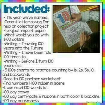 Celebrando 100 dias de escuela -100 Days of School Activities, in Spanish