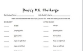 Celebrate 100 Days of School Buddy P.E. Activity