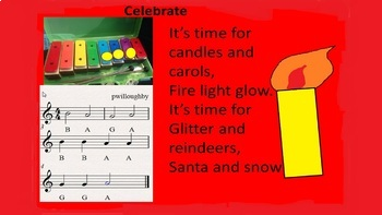Celebrate - A Christmas song  with a simple 3 note accompa