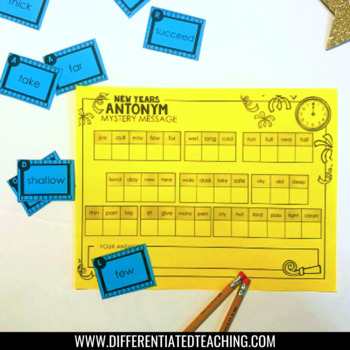 New Years Activities for Literacy & Social Studies