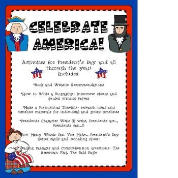 Celebrate America! Activities for President's Day and Everyday