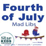 Celebrate America Mad Lib Collection  ** FIVE interactive